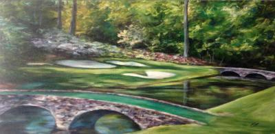 paintings of golf courses, Augusta, GA