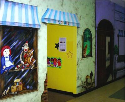 storefront mural, toy store